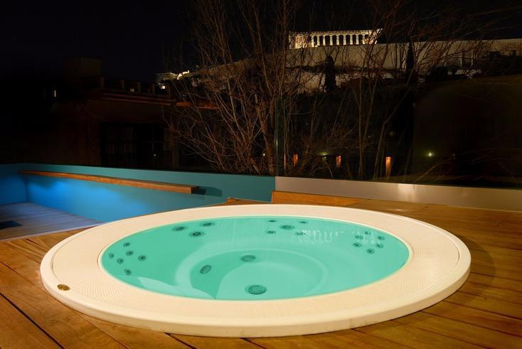 hotels with roof garden athens center