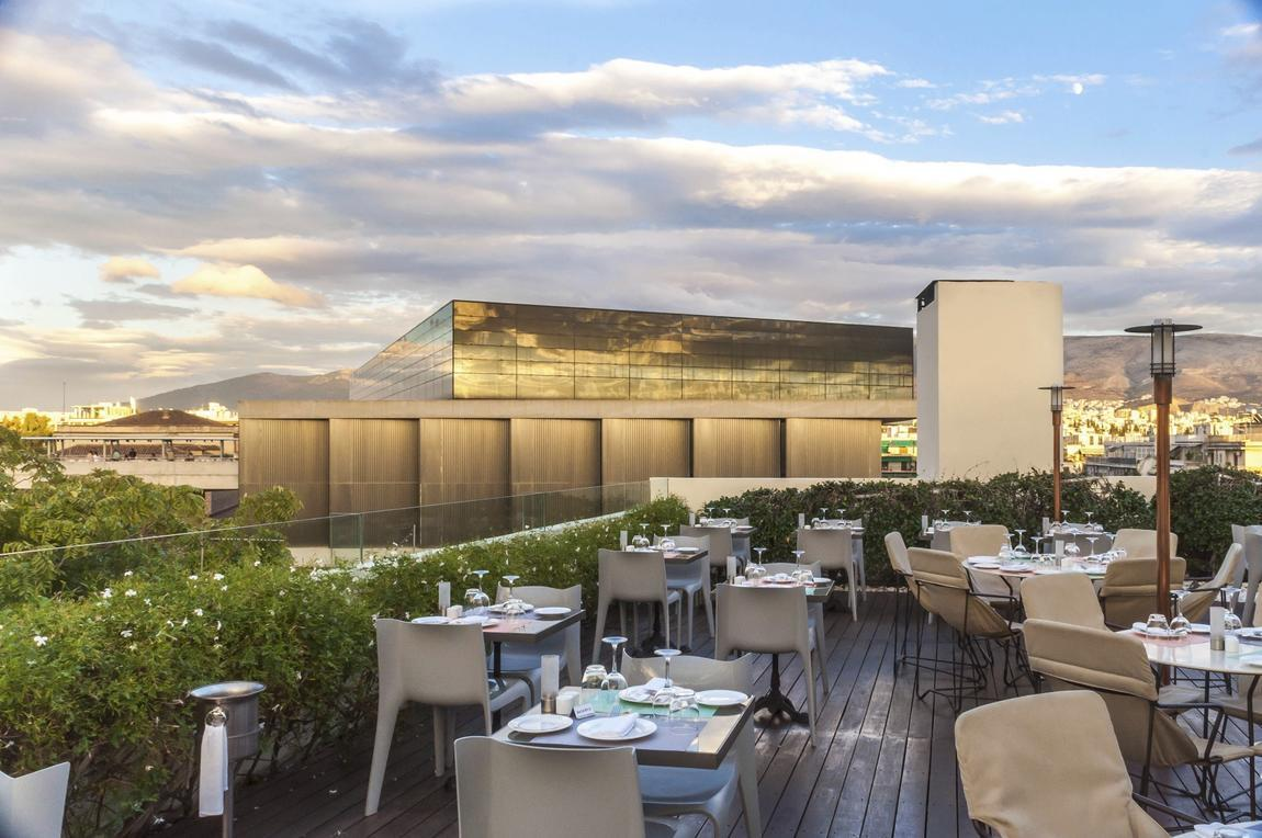 Herodion_Pointa_roof garden_New Acropolis Museum View