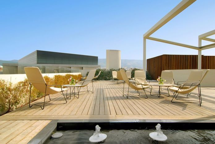 Herodion  Hotel_Roof Garden_New Acropolis Museum_View_Athens